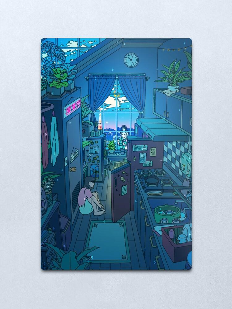 Alternate view of Blue Kitchen Metal Print
