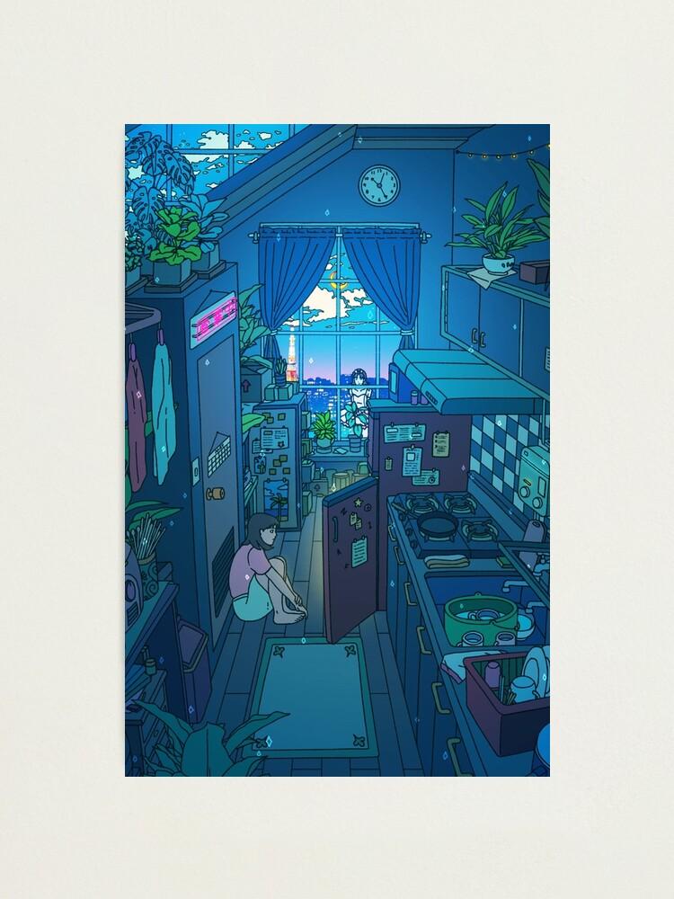 Alternate view of Blue Kitchen Photographic Print