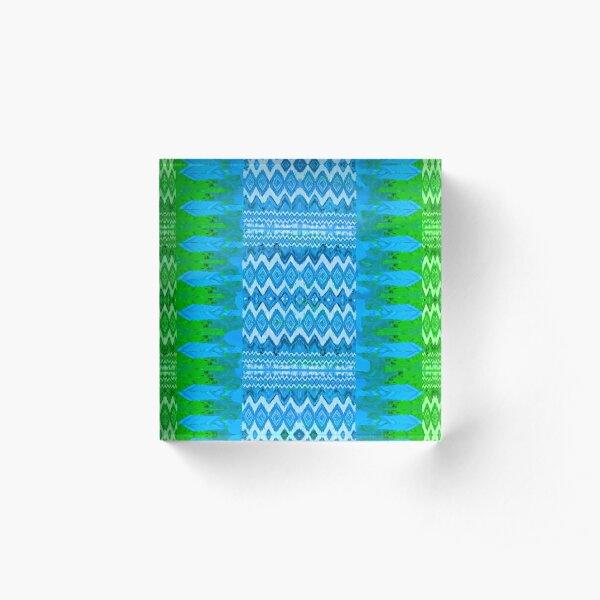 Pluma Blue & Green Acrylic Block