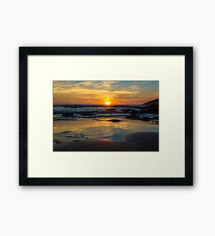 Sunset on Whipsiderry Beach Framed Print