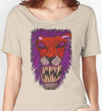 Monster Mondays #2 - Lionel Lion - Anger Monster! - Red and Orange Women's Relaxed Fit T-Shirt