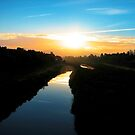 Dawn on the Canal by Ellen Cotton