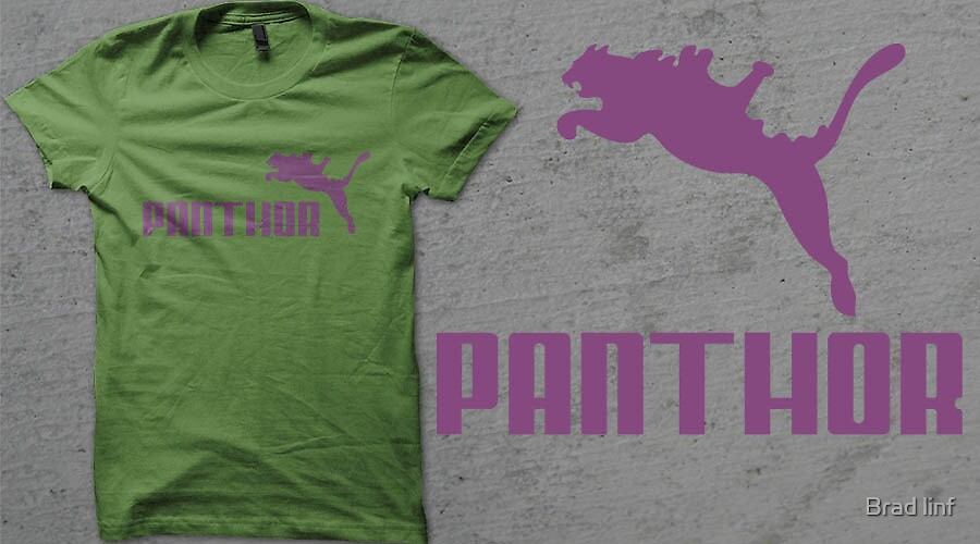 Panthor brand athletic footwear logo by Brad linf