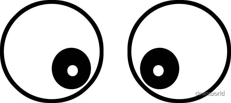 Quot Googly Funny Cartoon Eyes Toon T Shirt Amp Top Quot Stickers