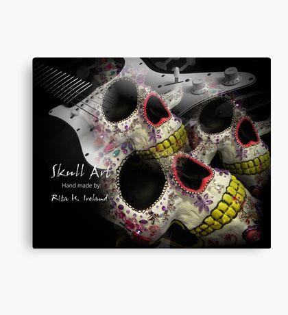 Skull Art Hand Made Canvas Print