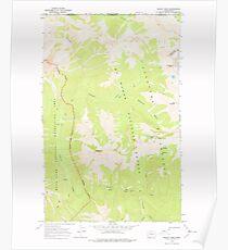 USGS Topo Map Washington State WA Skagit Peak 243736 1969 24000 Poster