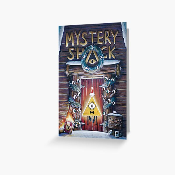 Gravity Falls Christmas Mystery Shack Greeting Card