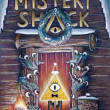 Gravity Falls Christmas Mystery Shack by illustore