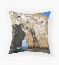 Through the rock. Throw Pillow