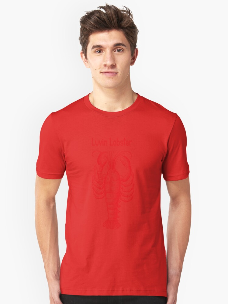☝ ☞ LUVIN LOBSTER TEE SHIRT ☝ ☞ Unisex T-Shirt Front