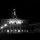 Newburyport High School @ Night  by Sam Davis