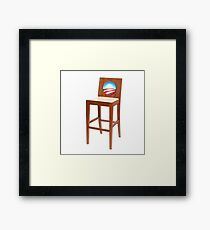 Obama Empty Chair Clint Eastwood Framed Print
