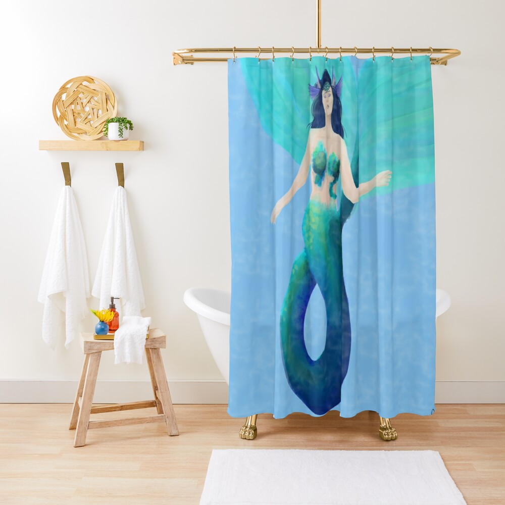The Watery Shower Curtain
