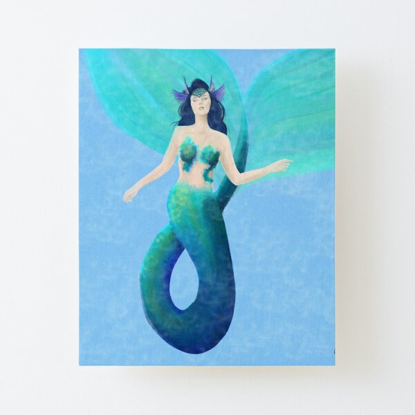 The Watery Canvas Mounted Print