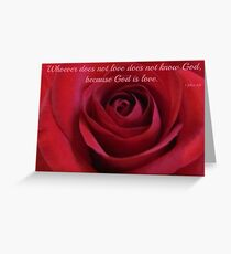 ~ God is Love ~ Greeting Card