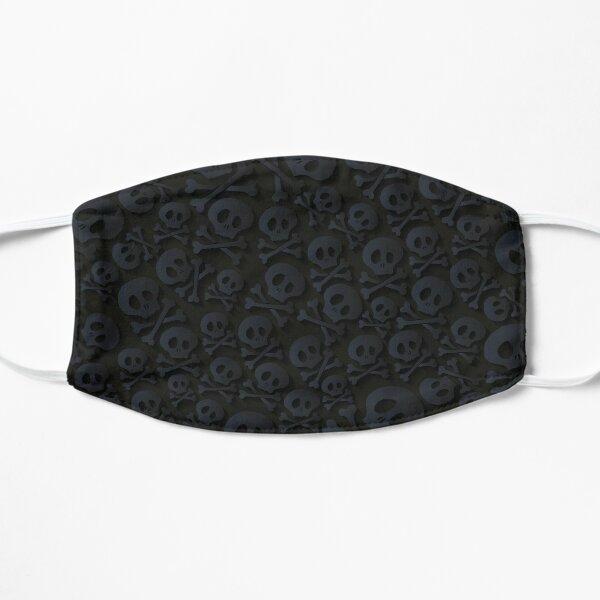 Black on Black Skull and Crossbones Mask