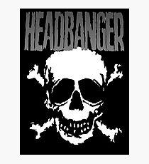 Headbanger Skull Photographic Print