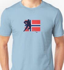 I Love Norge - Norway National Flag & Hockey Player Skjorte T-Shirt