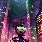 "Invader Zim Fan Art - Dib ""The Nightmare Begins"" by MylaFox"