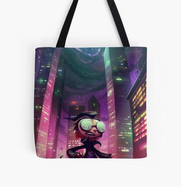 "Invader Zim Fan Art - Dib ""The Nightmare Begins"" All Over Print Tote Bag"