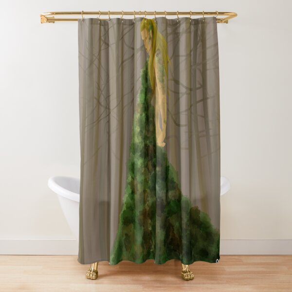 The Wood Shower Curtain