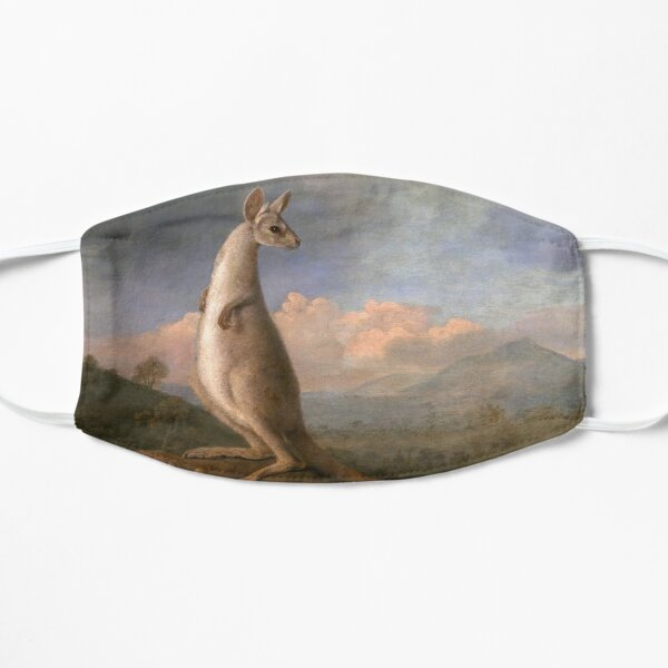 The Kongouro Oil Painting by Australian Artist George Stubbs Flat Mask