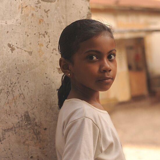 Indian girl, Mombasa, Kenia by Konstantin Zhuravlev