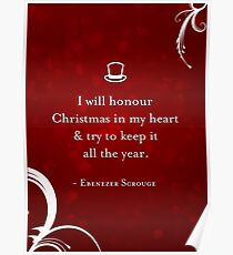 A Christmas Carol Quote Poster