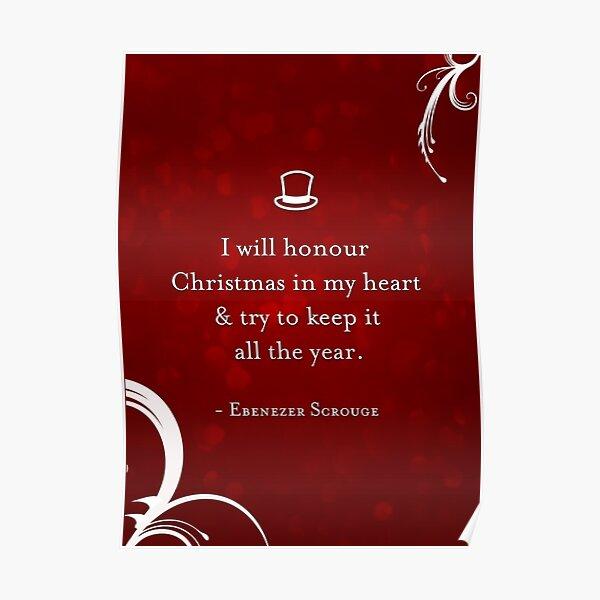 Ein Weihnachtslied-Zitat Poster