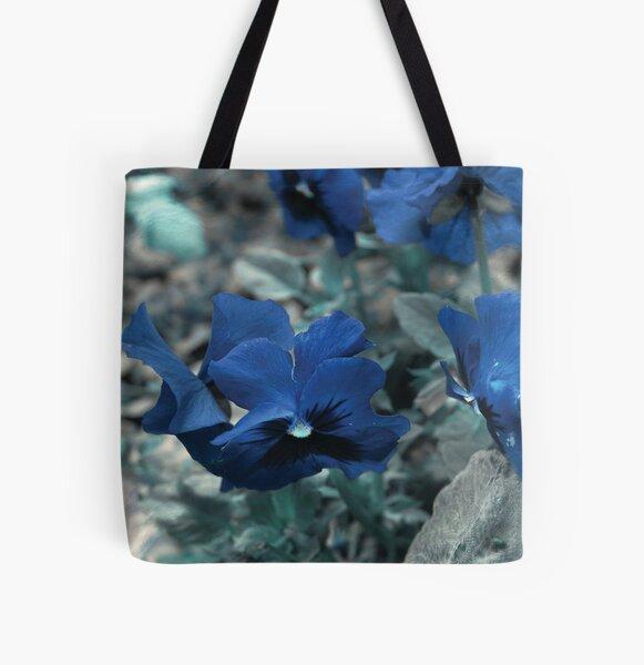 Ocean Pansies All Over Print Tote Bag