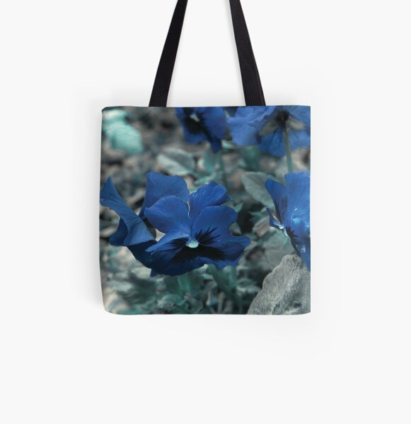 Ocean Pansies All Over Print Tote Bag