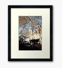 Feet Street Framed Print