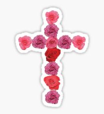 Flower Cross Sticker