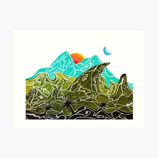 Mountains in Paradise Art Print