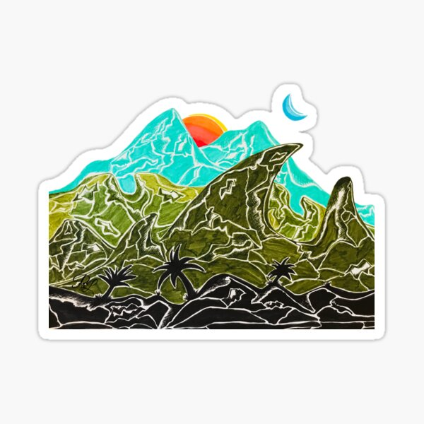 Mountains in Paradise Sticker