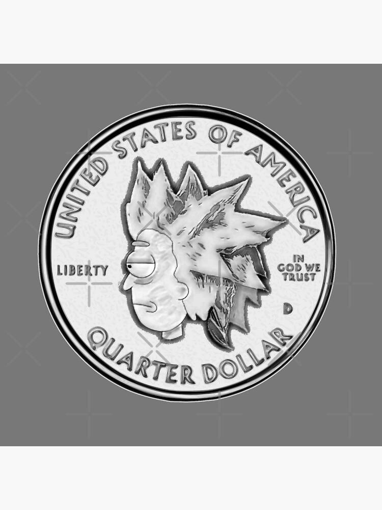 Rick Sanchez Wig Quarter Coin by Khoulio