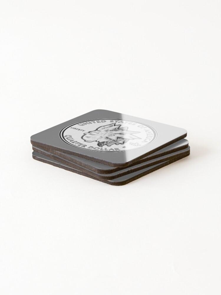 Alternate view of Rick Sanchez Wig Quarter Coin Coasters (Set of 4)