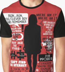 Doctor Who - Clara (Oswin) Oswald Quotes Graphic T-Shirt