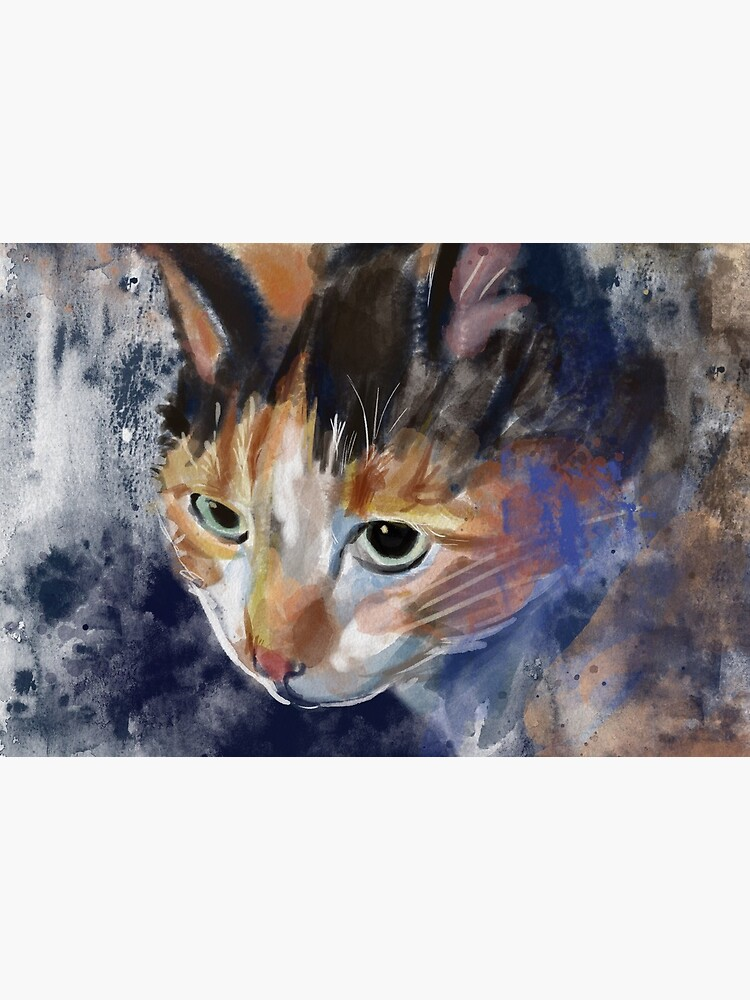 Watercolor Calico Cat by ienjoycatsss