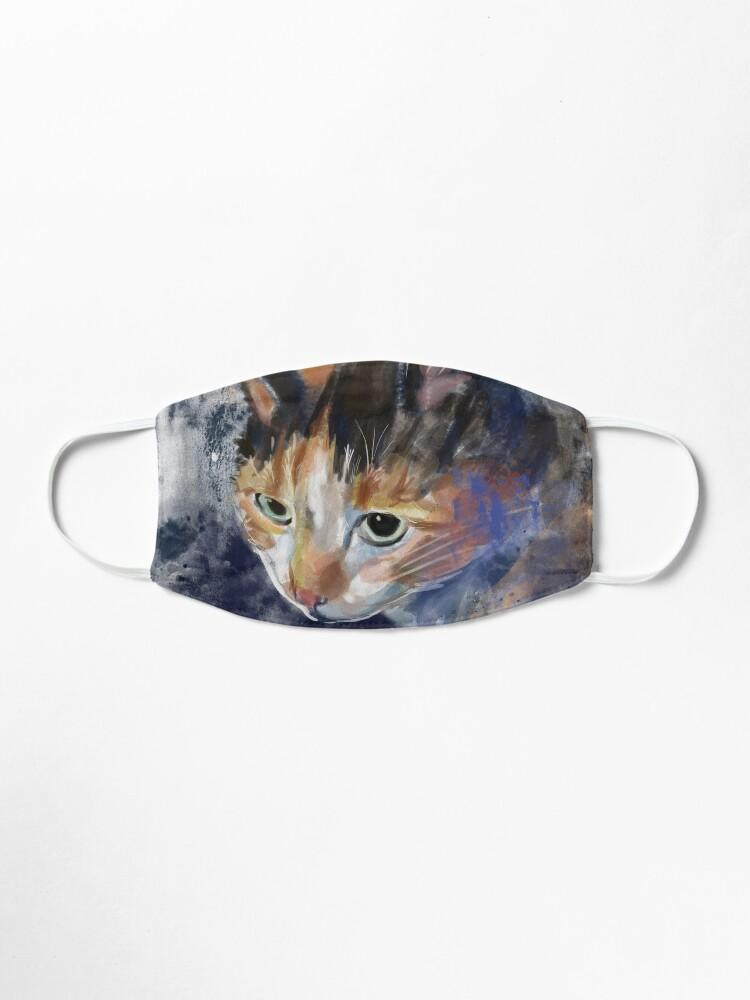 Alternate view of Watercolor Calico Cat Mask