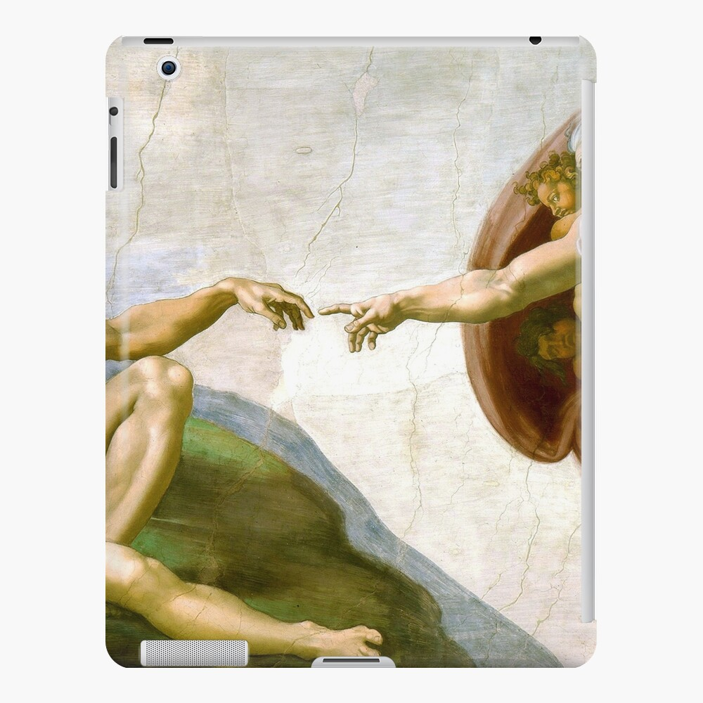 The Creation of Adam Painting by Michelangelo Sistine Chapel iPad Case & Skin