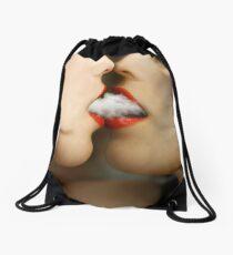 sharing clouds Drawstring Bag