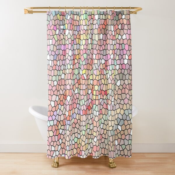 Kaleidoscope of Colors Digital Design Shower Curtain