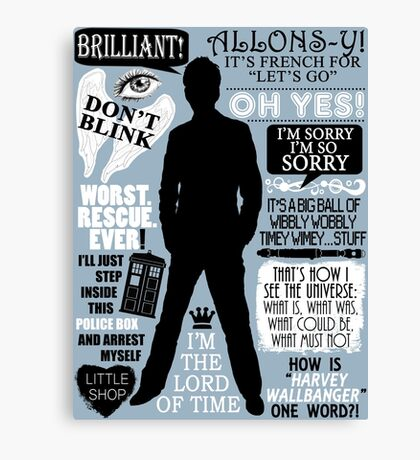 Doctor Who - 10th Doctor Quotes Canvas Print
