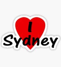 I Love Sydney Australia - T-Shirt & Sticker Sticker