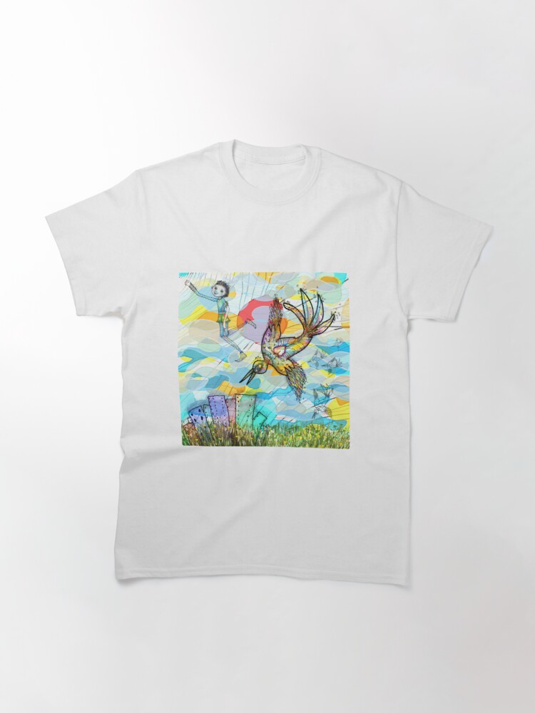 Alternate view of The Boy, The Bird and the Flying Dream (II) Classic T-Shirt