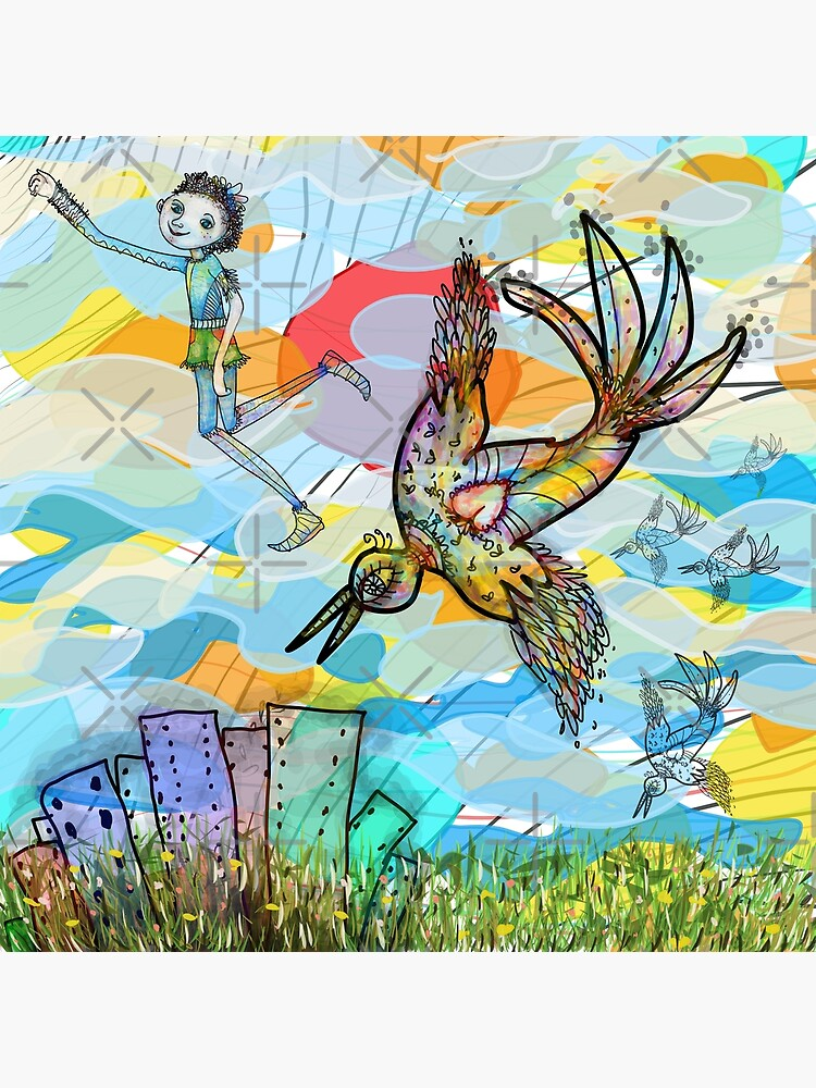 The Boy, The Bird and the Flying Dream (II) by aremaarega