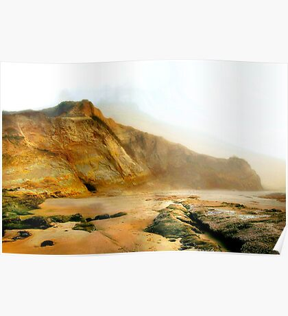 Foggy Low Tide Poster
