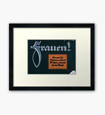 Frauen! Sorget für Frieden und Brot! Wählet und werbt für die Wahl! 1379 Framed Print