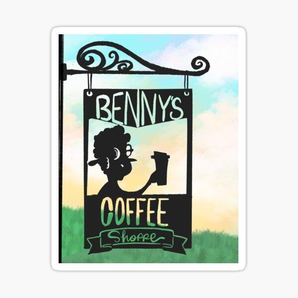 Benny's Coffee Shoppe- Miss Jamie's Farm Sticker